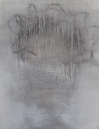 Charcoal and gesso on cloth